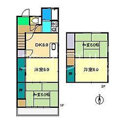 [一戸建] 高知県高知市比島町3丁目 の賃貸【/】の間取り