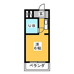 ギャザー24[3階]の間取り