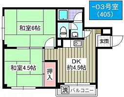 サントピア千島[303号室]の間取り