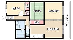 大島マンション池下[1E号室]の間取り