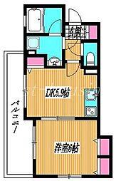 東京都武蔵野市八幡町1丁目の賃貸マンションの間取り