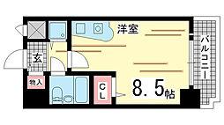 兵庫県神戸市中央区国香通5丁目の賃貸マンションの間取り