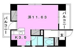 スリースターズマンション[701 号室号室]の間取り