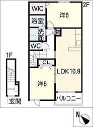 ベルアルモニー C[2階]の間取り
