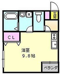 大阪府堺市西区浜寺石津町中3丁の賃貸アパートの間取り