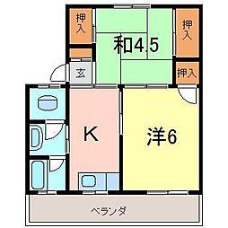 弘栄マンション[502号室]の間取り