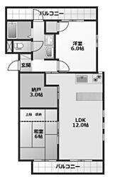 323BLD[4階]の間取り
