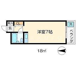 センチュリーコーポ[1階]の間取り