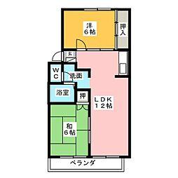 ハートピア春日井B[1階]の間取り