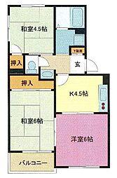埼玉県さいたま市浦和区領家6丁目の賃貸マンションの間取り