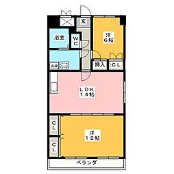 グレイスコート千代田[10階]の間取り