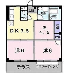 福岡県福岡市早良区田村7丁目の賃貸アパートの間取り