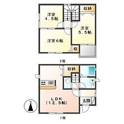 [一戸建] 岡山県倉敷市中畝8丁目 の賃貸【/】の間取り