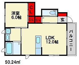 メゾン8 B棟[1階]の間取り