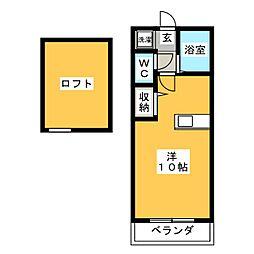 シエスタ平和[3階]の間取り