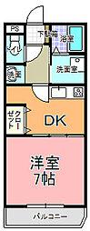MANSION・AOKI[203号室]の間取り