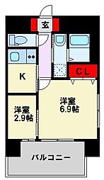 アベニュー黒崎[3階]の間取り