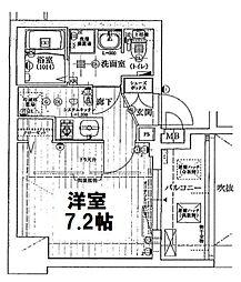 アクアプレイスOSAKA  T2[304号室]の間取り