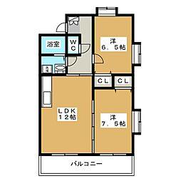 レイクコート伊賀駅[1階]の間取り
