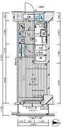 JR埼京線 板橋駅 徒歩3分の賃貸マンション 3階1Kの間取り