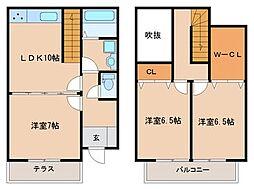 [タウンハウス] 福岡県久留米市小森野2丁目 の賃貸【/】の間取り