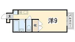 APT雄徳山[105号室]の間取り
