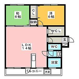 若久ビル[3階]の間取り
