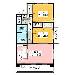 コベント・ミューズ[3階]の間取り