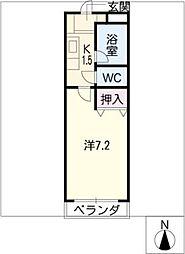 ベルエア21[3階]の間取り