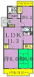 北柏グレースマンション[3階]の間取り
