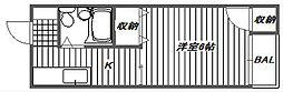 柳原第二パールマンション[202号室]の間取り