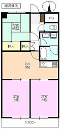 長野県須坂市大字小河原の賃貸マンションの間取り