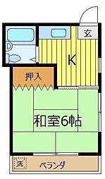 埼玉県新座市大和田5丁目の賃貸アパートの間取り