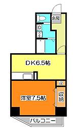 東京都西東京市ひばりが丘1丁目の賃貸マンションの間取り