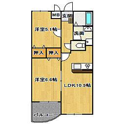 レグルス[2階]の間取り