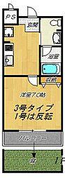 松尾ハイツ寝屋川の間取り