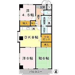 兵庫県神戸市西区池上4丁目の賃貸マンションの間取り