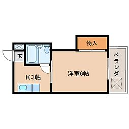 静岡県静岡市清水区追分の賃貸マンションの間取り