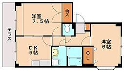 ファミールシティ[1階]の間取り