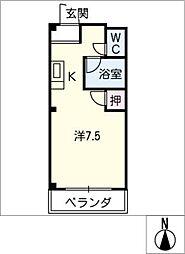 エストゥディオM B棟[3階]の間取り