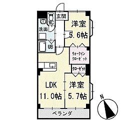 ヴィラ葵A棟 3階[302号室]の間取り