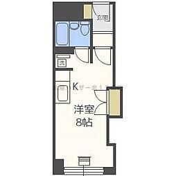 チサンマンション札幌第三[9階]の間取り