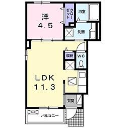 深野3丁目アパート[0102号室]の間取り