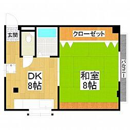 大阪府堺市美原区阿弥の賃貸マンションの間取り