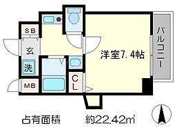 KDXレジデンス西院[6階]の間取り