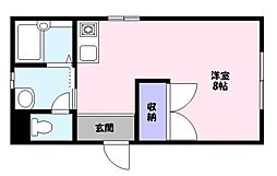 鳥取県鳥取市徳尾の賃貸アパートの間取り