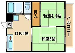 兵庫県明石市太寺4丁目の賃貸アパートの間取り