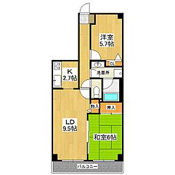 モアステージエルピアザ荒川沖702号室[7階]の間取り