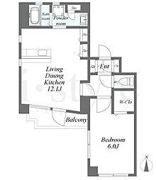 Lieben-Court II[6階]の間取り