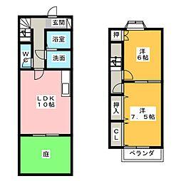 [テラスハウス] 愛知県一宮市西島町3丁目 の賃貸【愛知県 / 一宮市】の間取り